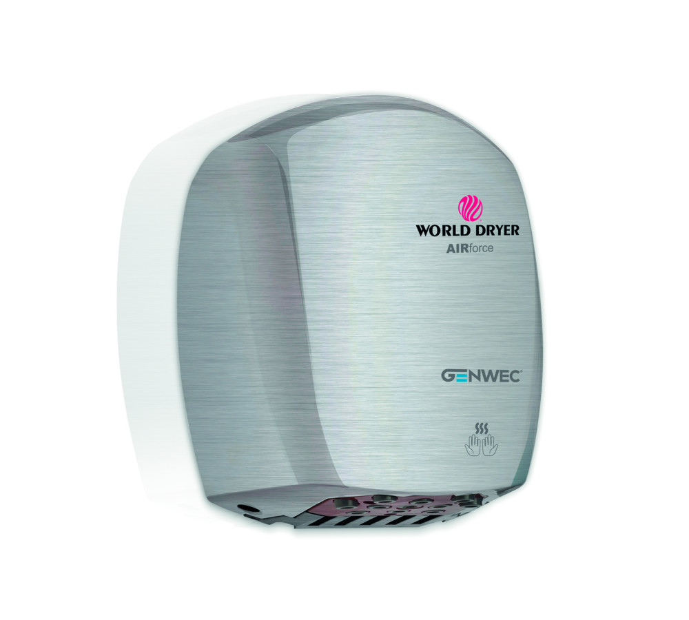 Airforce hand dryer stainless steel brushed
