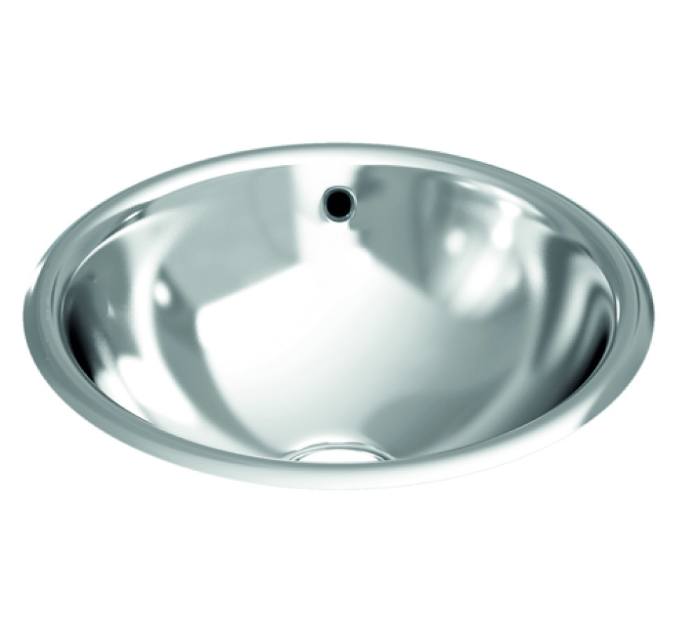 Built-in washbasin 355mm with overflow outlet flat wing