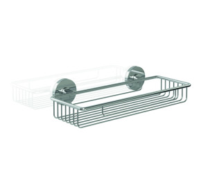 Shower basket zinc