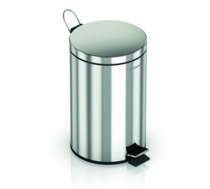 Wastepaper bin 3L stainless steel polished