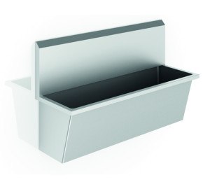 SURGICAL WASHBASIN, BRUSHED 304 STAINLESS STEEL 2250MM