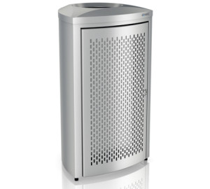 WASTEPAPER BIN 130L STAINLESS STEEL BRUSHED